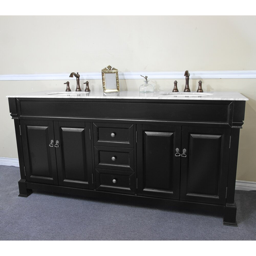 Bellaterra Home 72 Double Bathroom Vanity Set Reviews Wayfair