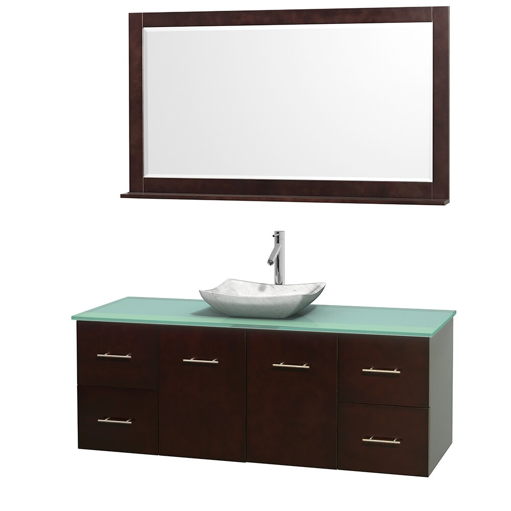 60 Single Bathroom Vanity Set With Mirror 60 Single Bathroom Vanity