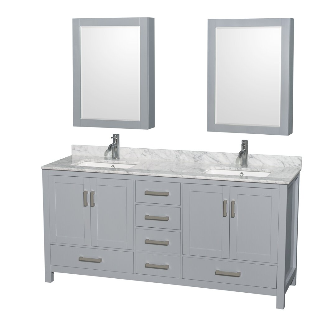 "Wyndham Bathroom Vanities: Wyndham Collection Sheffield 72"" Double Bathroom Vanity"