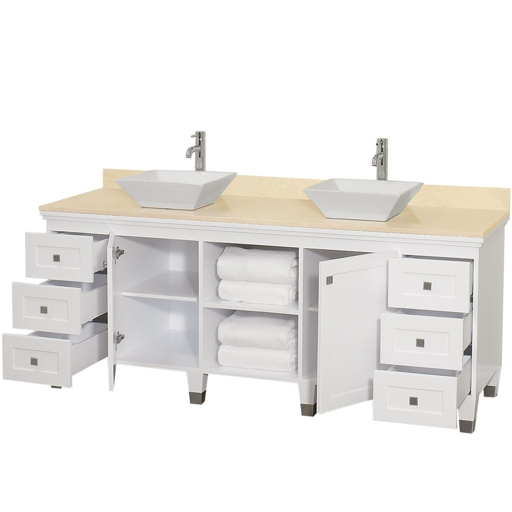 Wyndham Collection Premiere 72 Double Bathroom Vanity Set With Mirror Reviews Wayfair