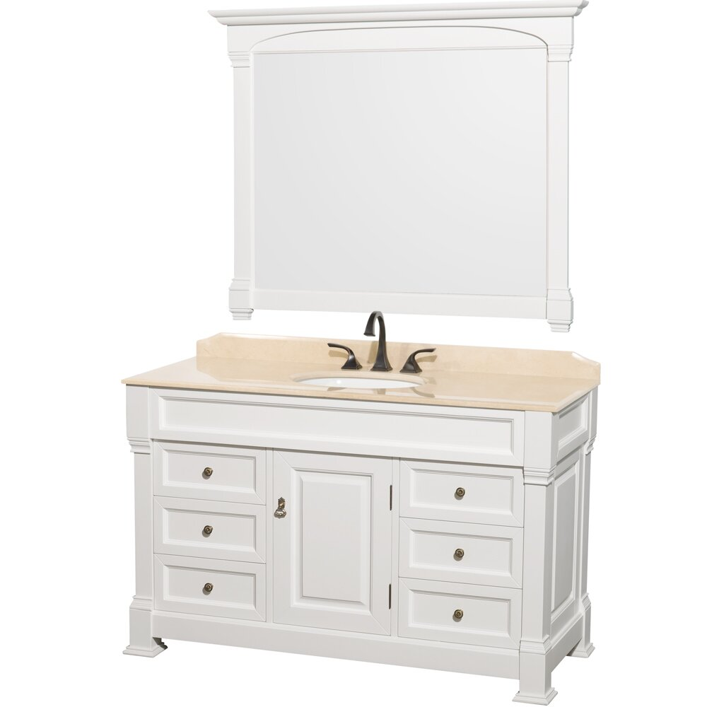 "Wyndham Bathroom Vanities: Wyndham Collection Andover 55"" Single Bathroom Vanity Set"