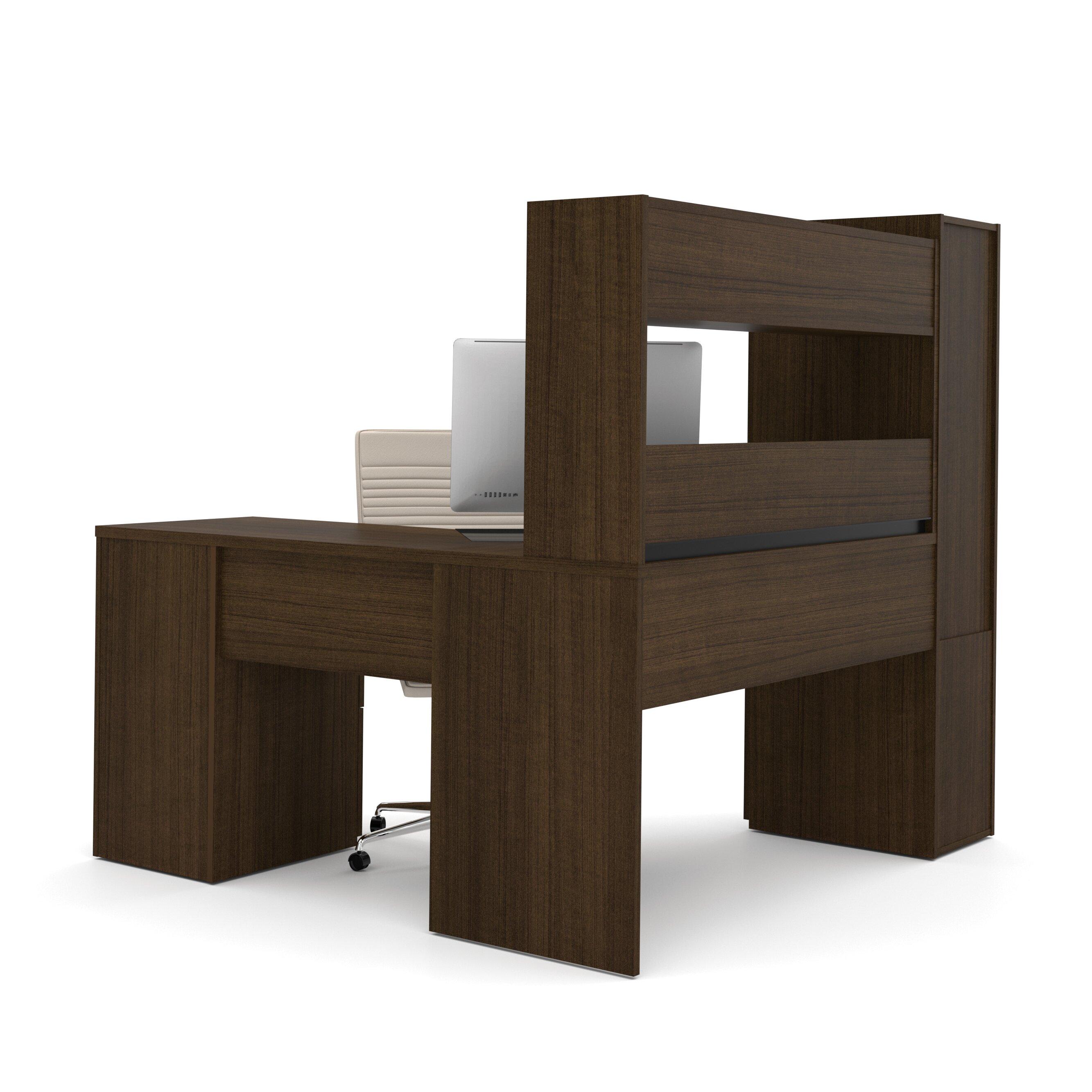 Bestar Jazz Corner Computer Desk With Hutch Amp Cabinet