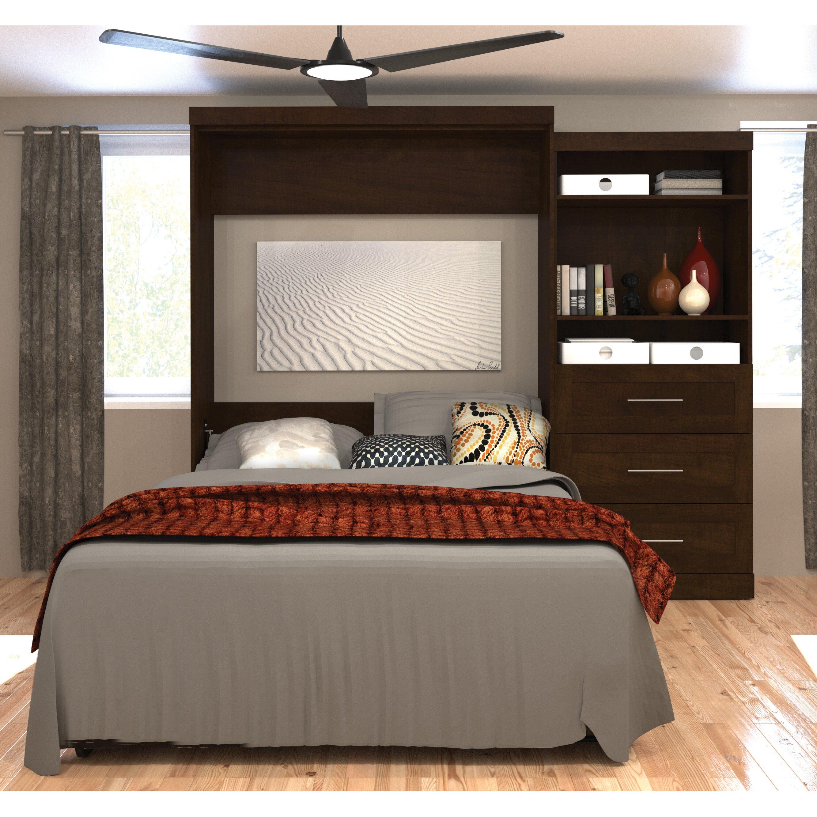 Bestar Queen Storage Murphy Bed & Reviews
