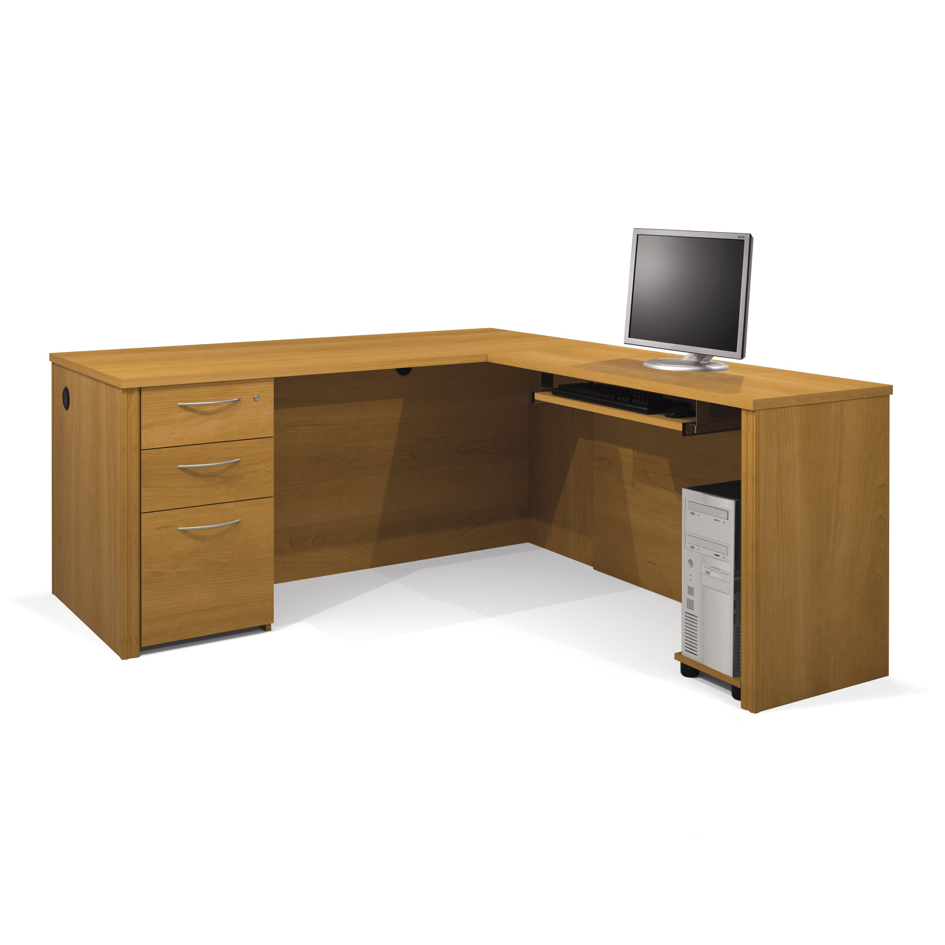 embassy l shaped executive desk wayfair supply