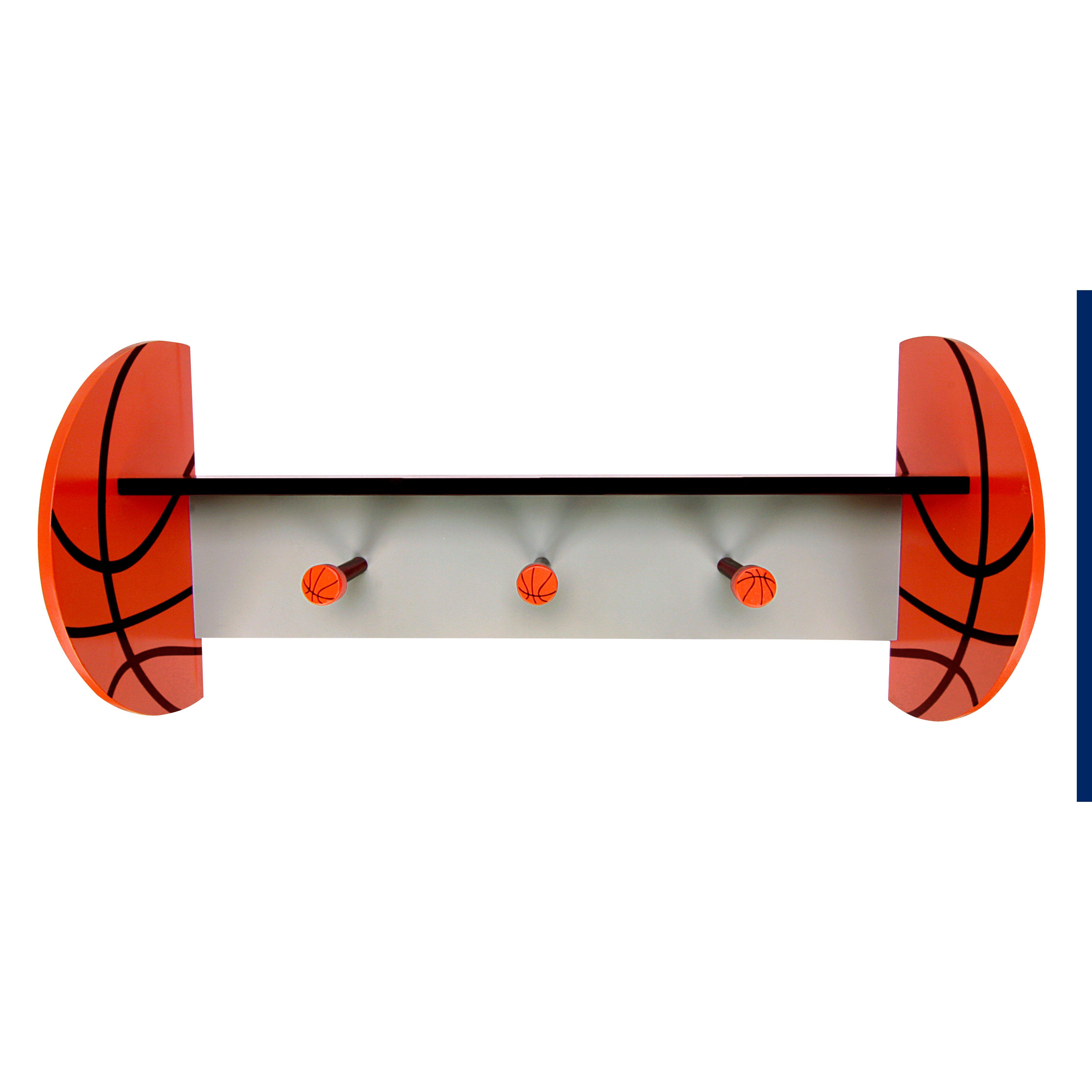 Basketball Rug Target: Trend Lab MVP Wall Shelf With Basketball & Reviews