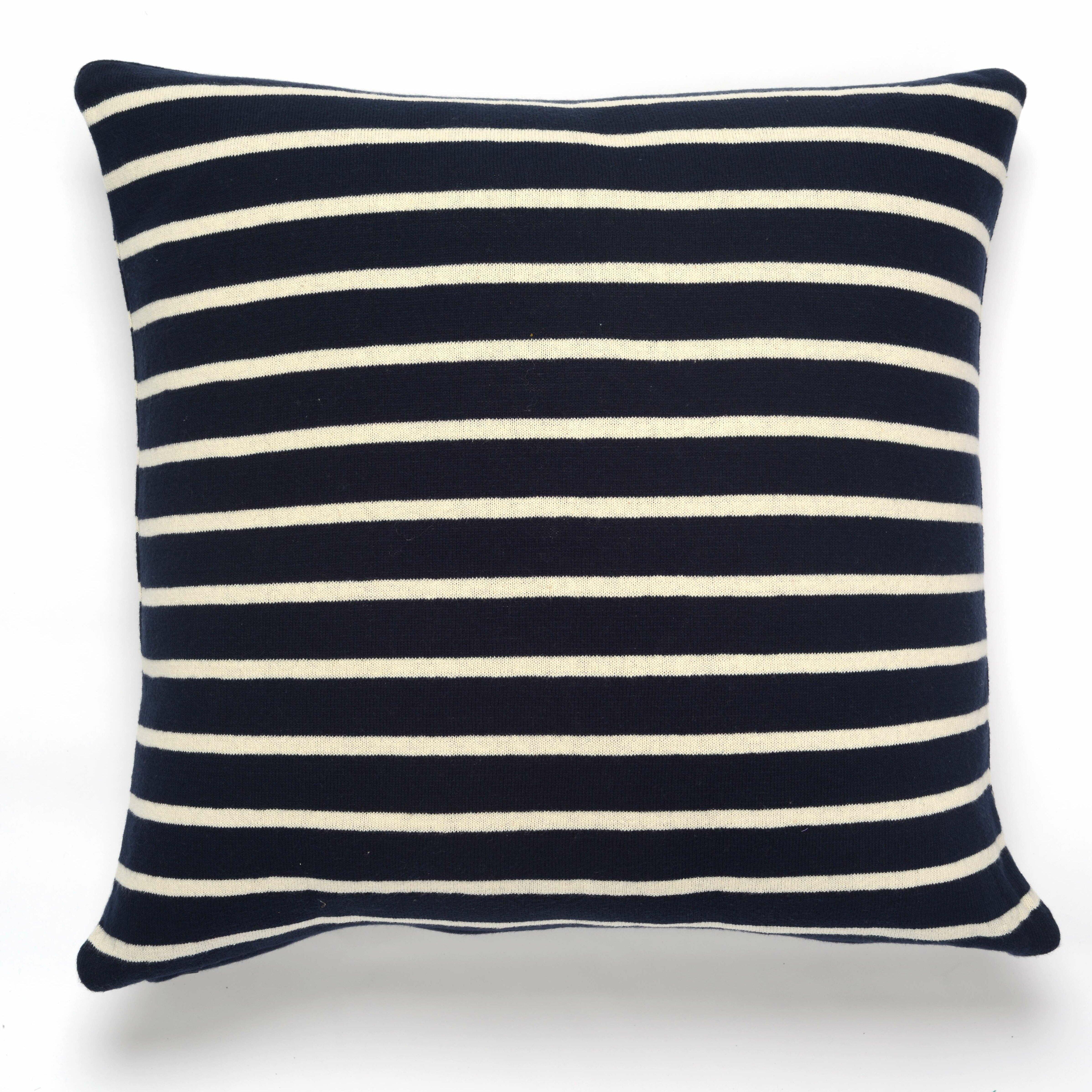 Beach Stripes Cotton Throw Pillow Wayfair