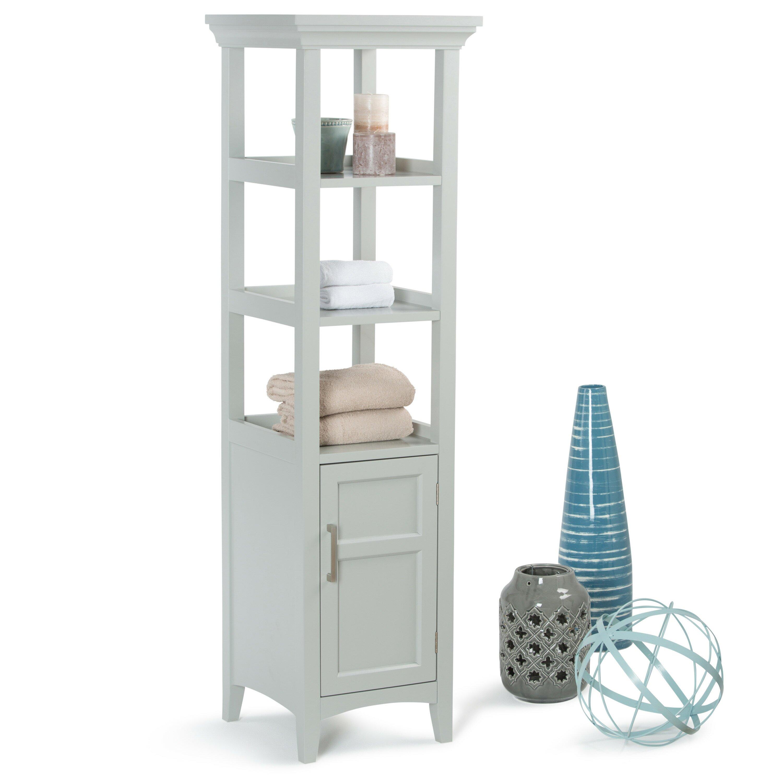Simpli home avington x free standing linen - Free standing linen cabinets for bathroom ...