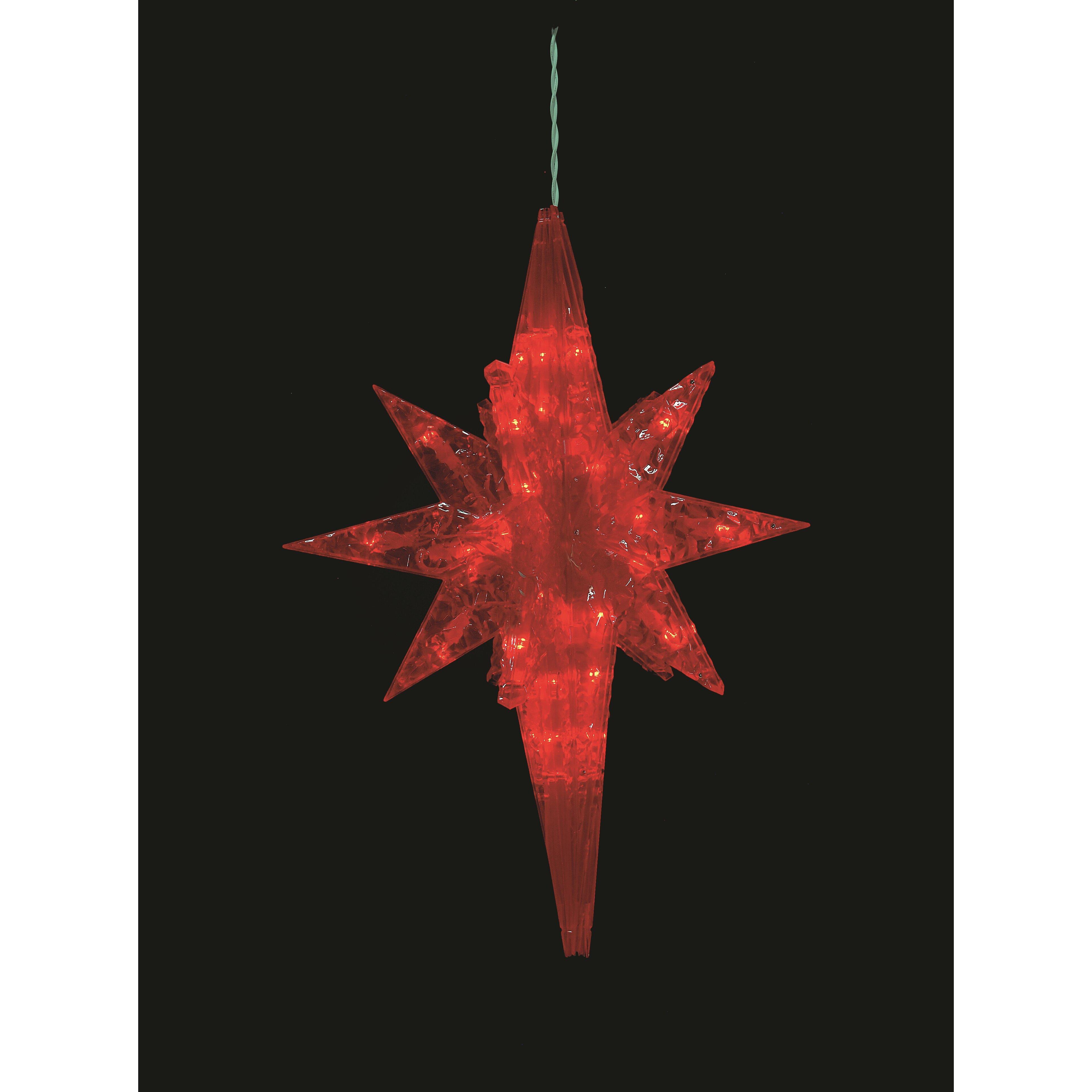 Christmas Decorations Star Of Bethlehem : Lb international led bethlehem star christmas decoration