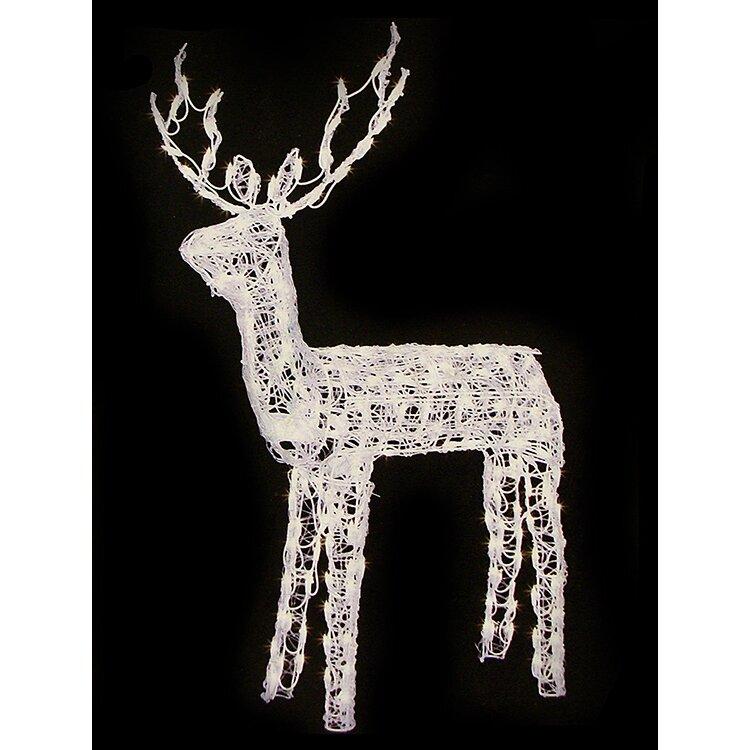Animated Crystal 3 D Standing Buck Reindeer Lighted
