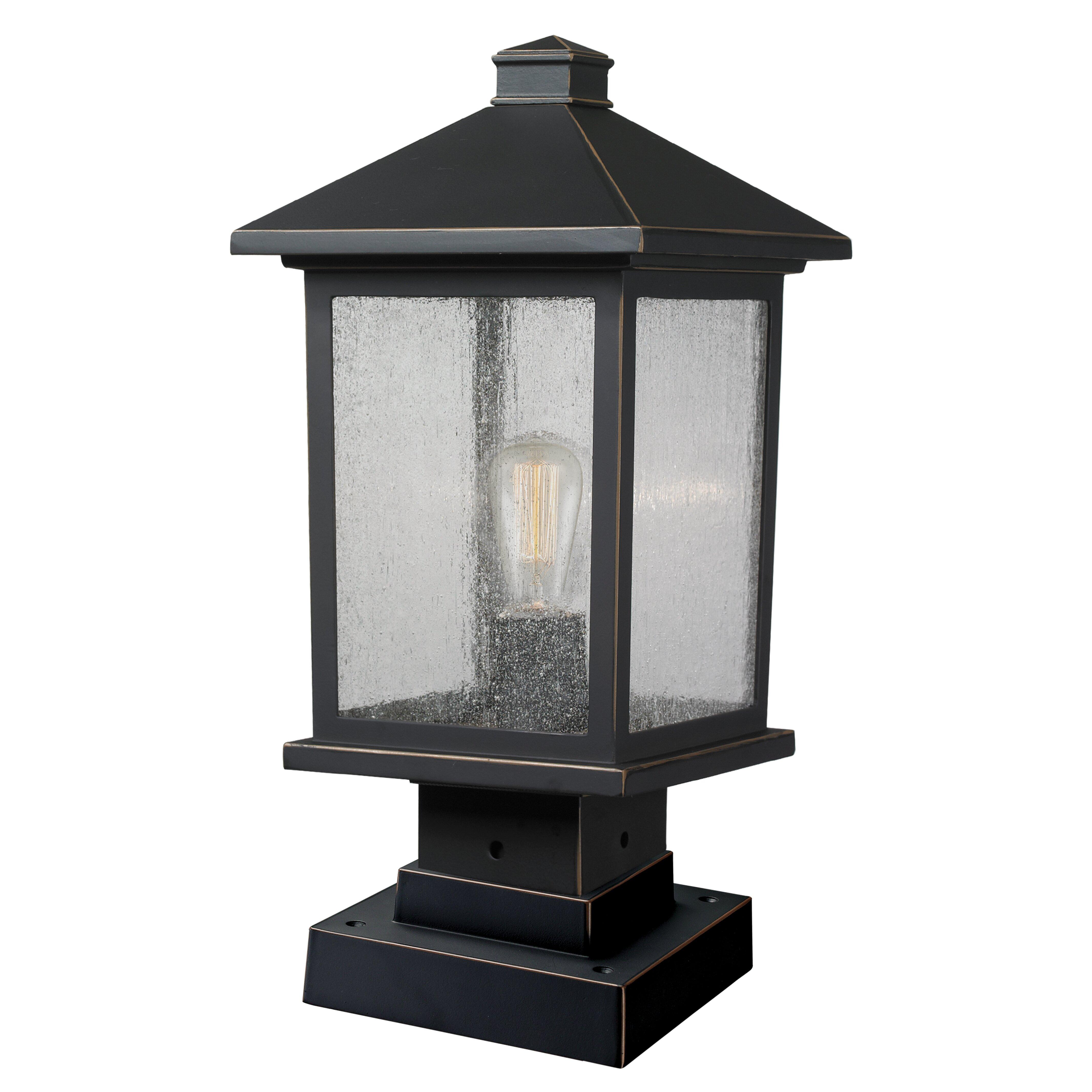 portland 1 light outdoor pier mount light wayfair. Black Bedroom Furniture Sets. Home Design Ideas