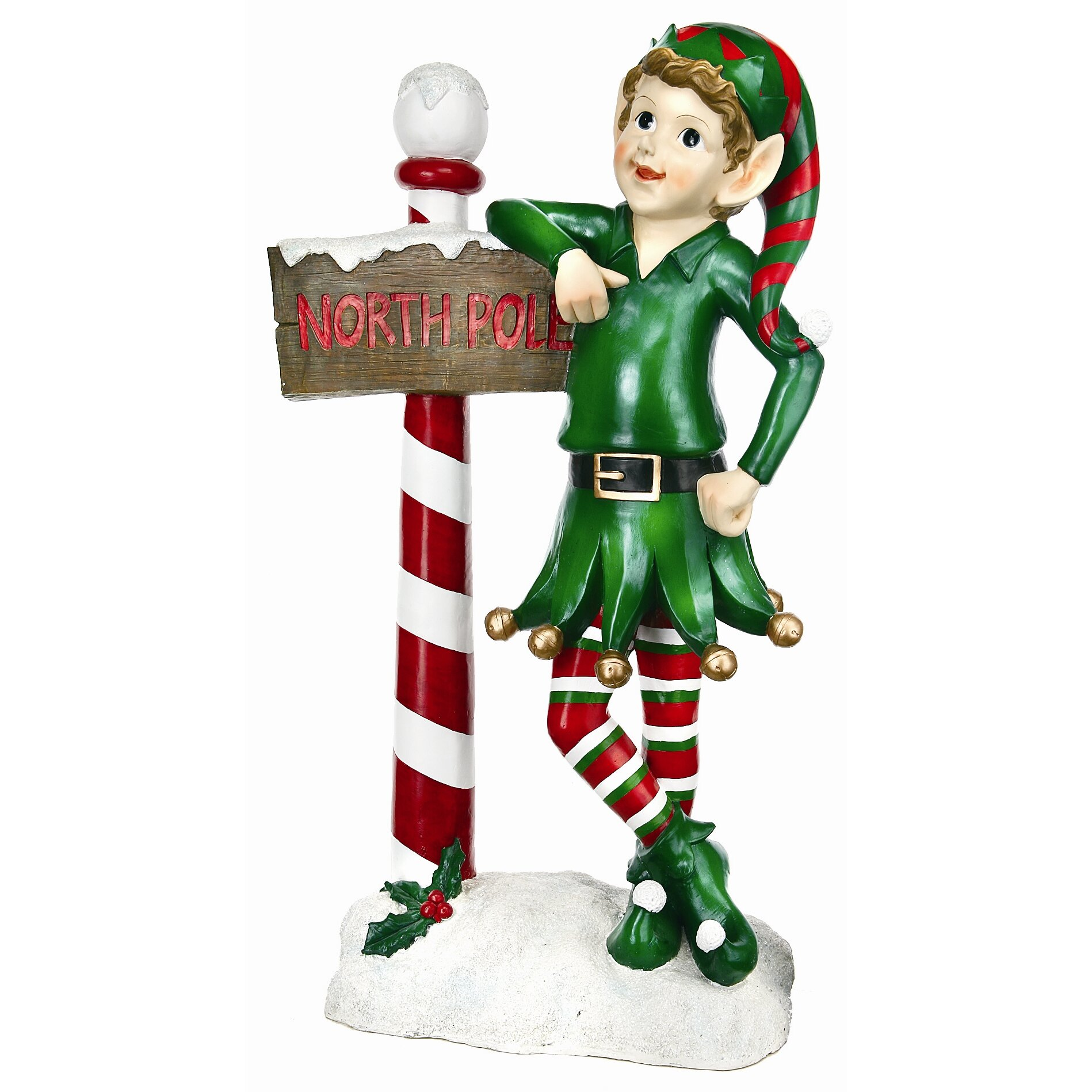 Regency International Elf with Sign Statue Christmas ...