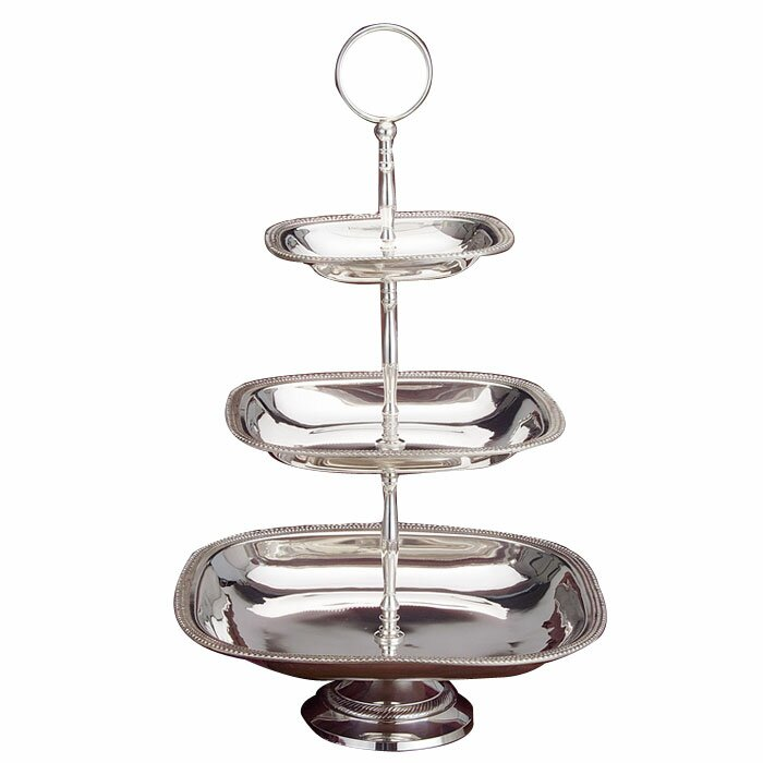 godinger silver art co tia 3 tiered stand reviews wayfair. Black Bedroom Furniture Sets. Home Design Ideas
