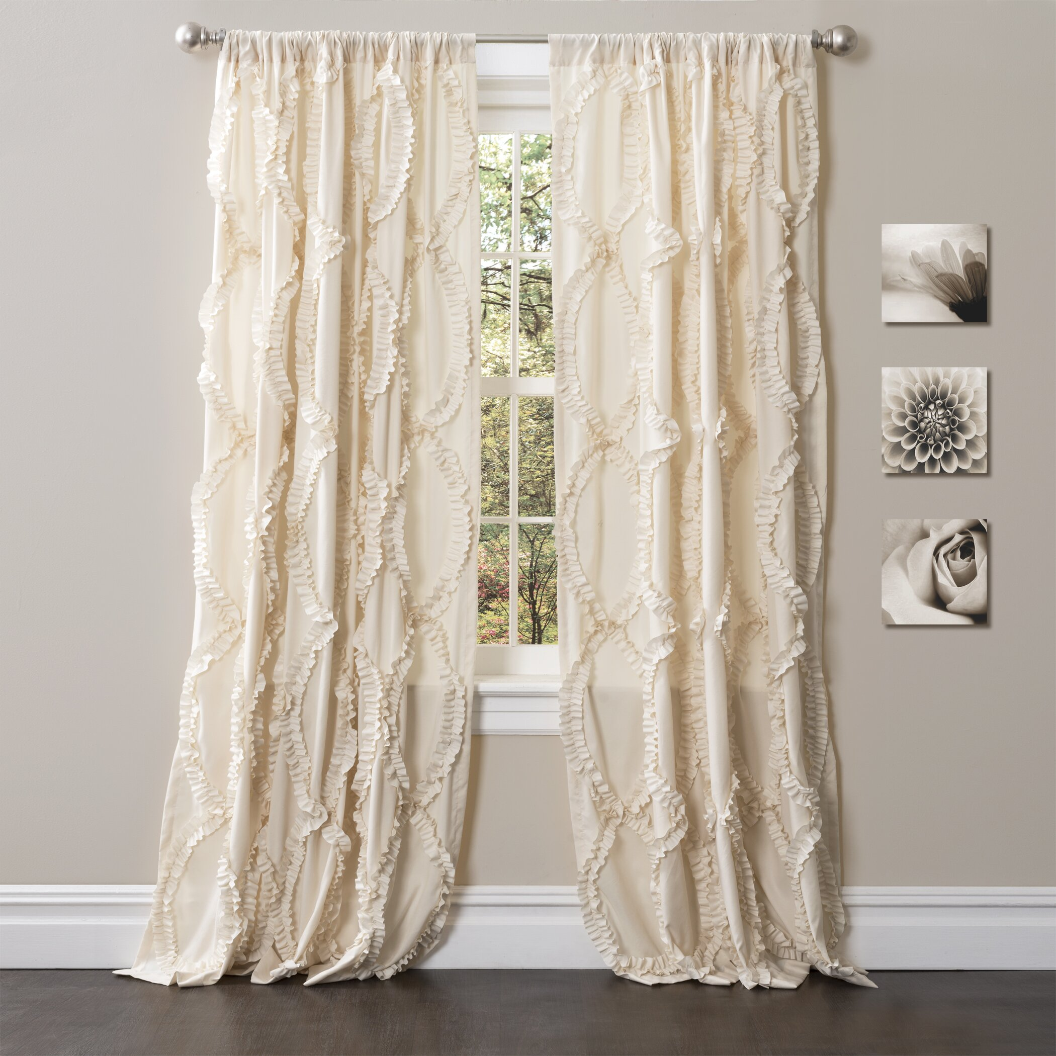 Lush Decor Avon Light filtering Window Single Curtain