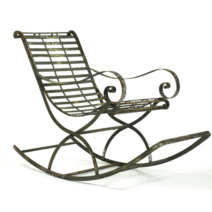 Iron arm chair wayfair