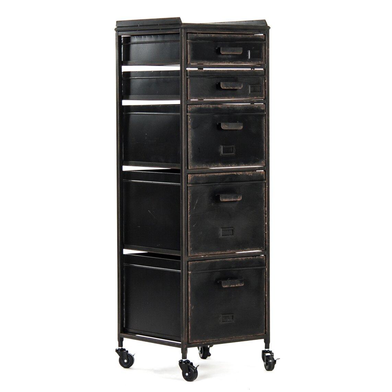 Zentique Dora 5 Drawer Office Storage Cabinet & Reviews