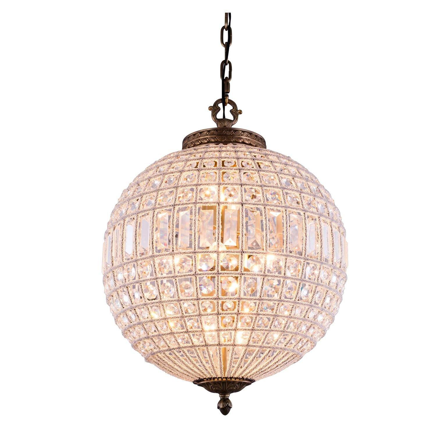 Elegant Lighting Olivia 3 Light Globe Pendant & Reviews