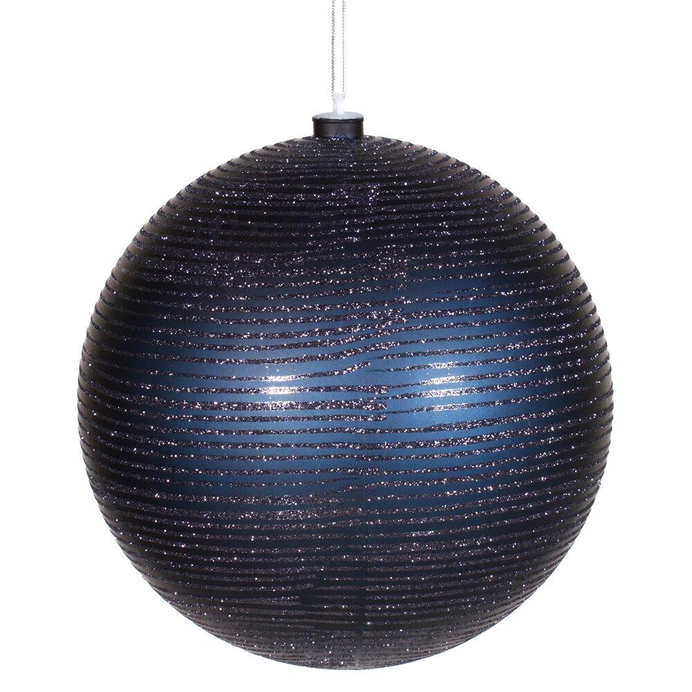 Vickerman Matte-Glitter Ball Christmas Ornament & Reviews   Wayfair