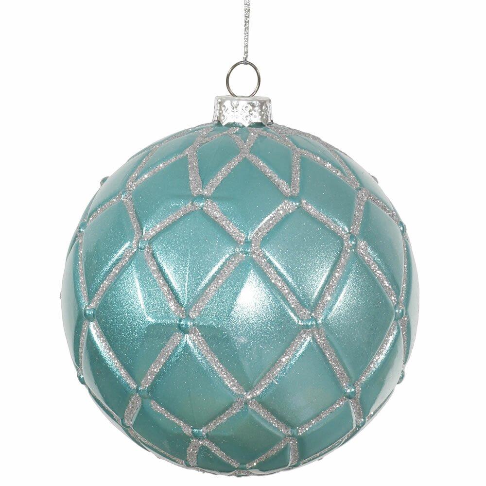 Vickerman Candy Glitter Net Ball Christmas Ornament & Reviews   Wayfair