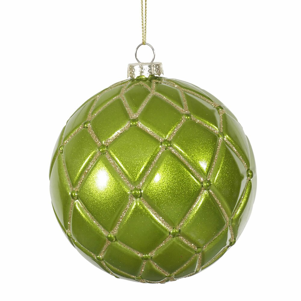 Vickerman candy glitter net ball christmas ornament