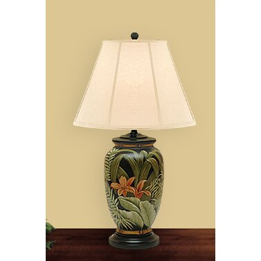 """JB Hirsch Palm Leaves 27"""" H Table Lamp with Empire Shade ..."""