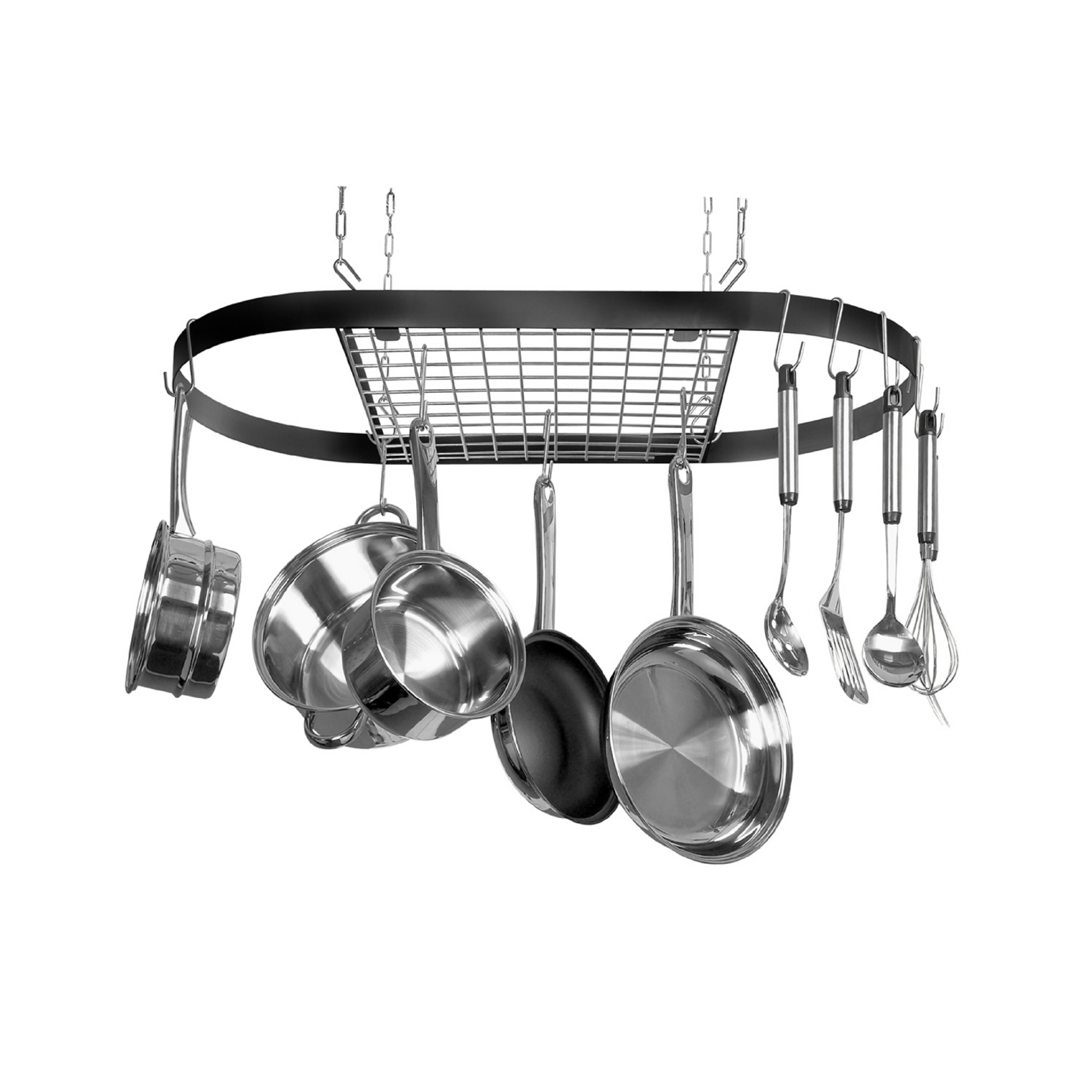 Kinetic Classicor Wrought-Iron Hanging Oval Pot Rack ...
