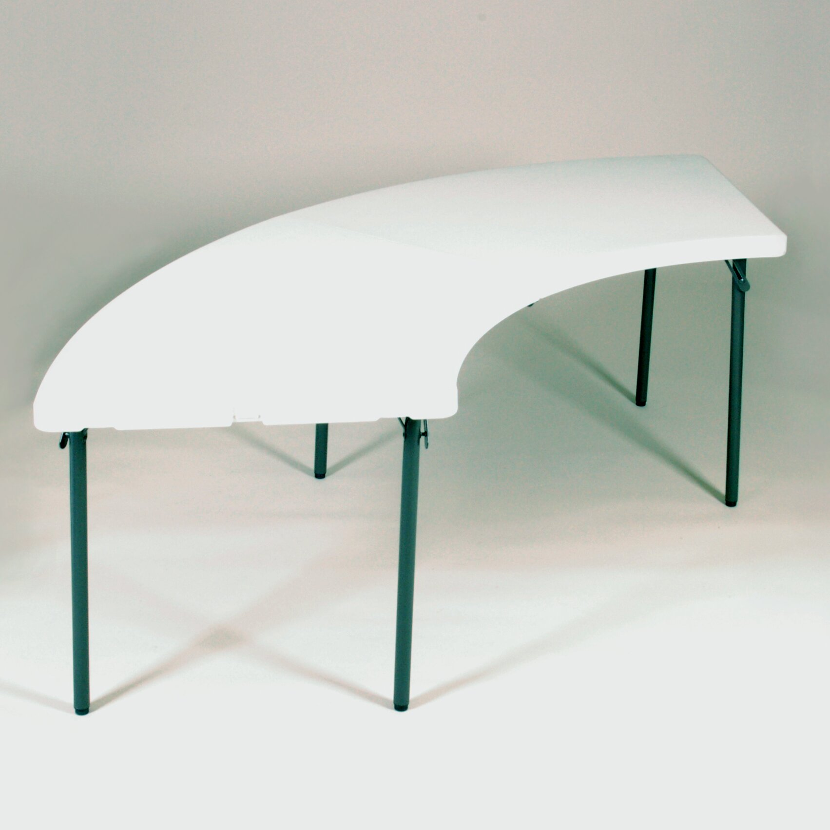 "Office Max Furniture Desks Correll, Inc. 96"" Semi Circle Folding Table & Reviews | Wayfair Supply"