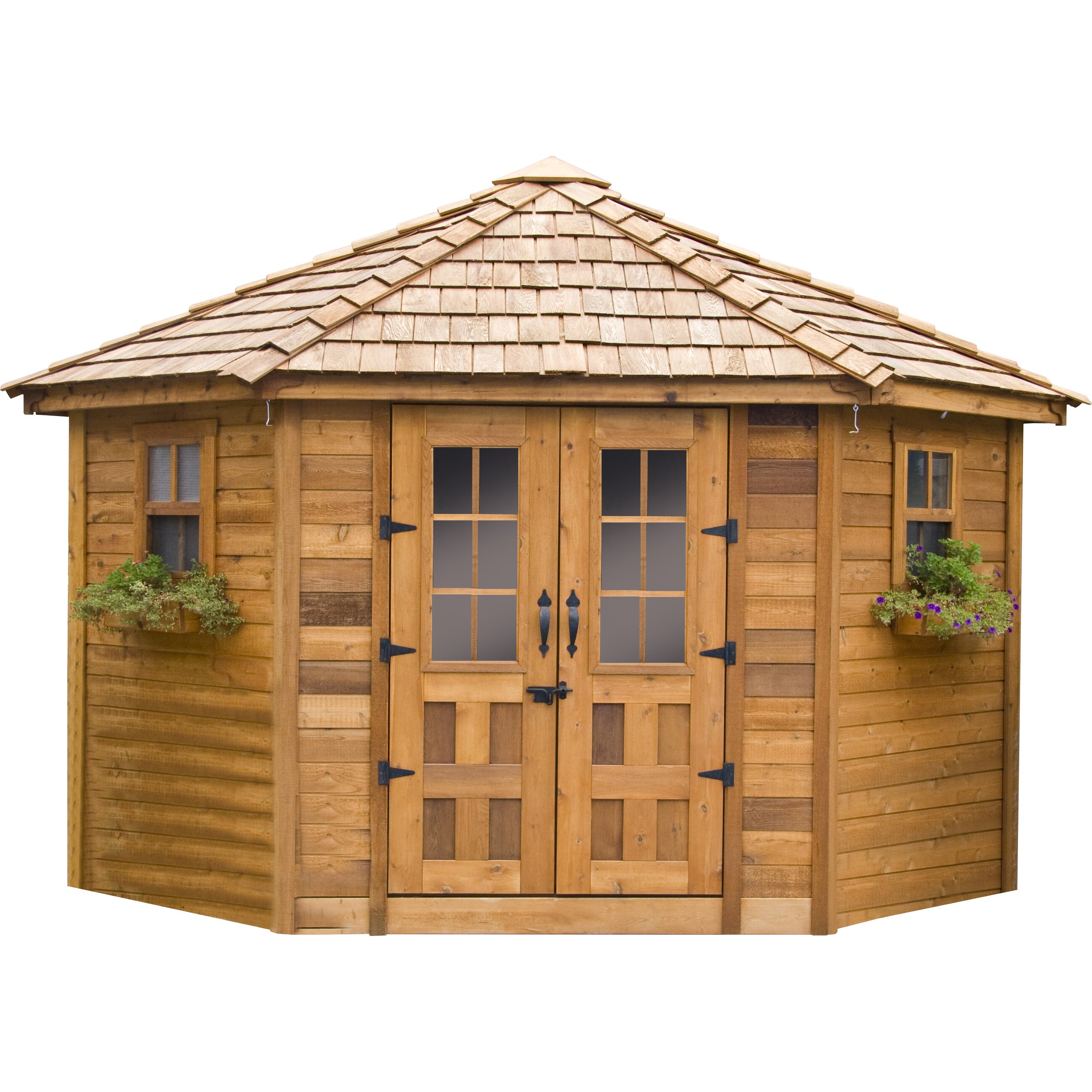 Outdoor living today 9 ft w x 9 ft d wood garden shed for 9 x 9 garden shed