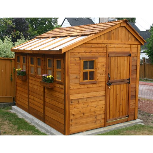 Outdoor Living Today Sunshed 8 Ft W X 12 Ft D Wood Garden Shed Review