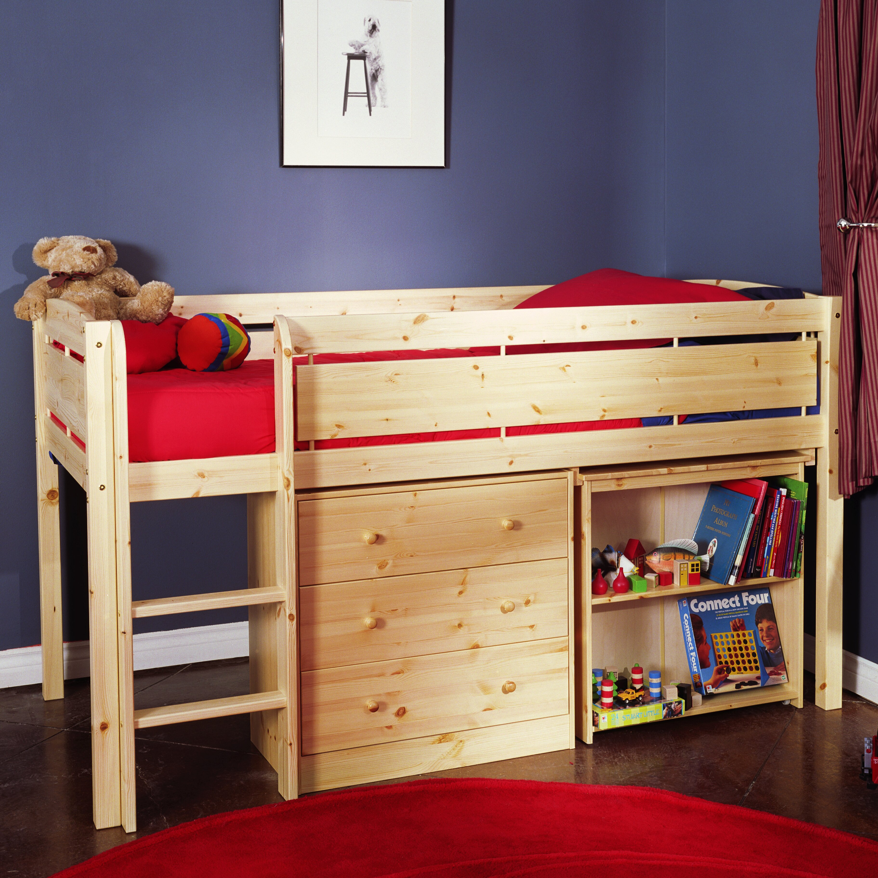 Canwood Furniture Whistler Junior Twin Low Loft Bed Reviews Wayfair