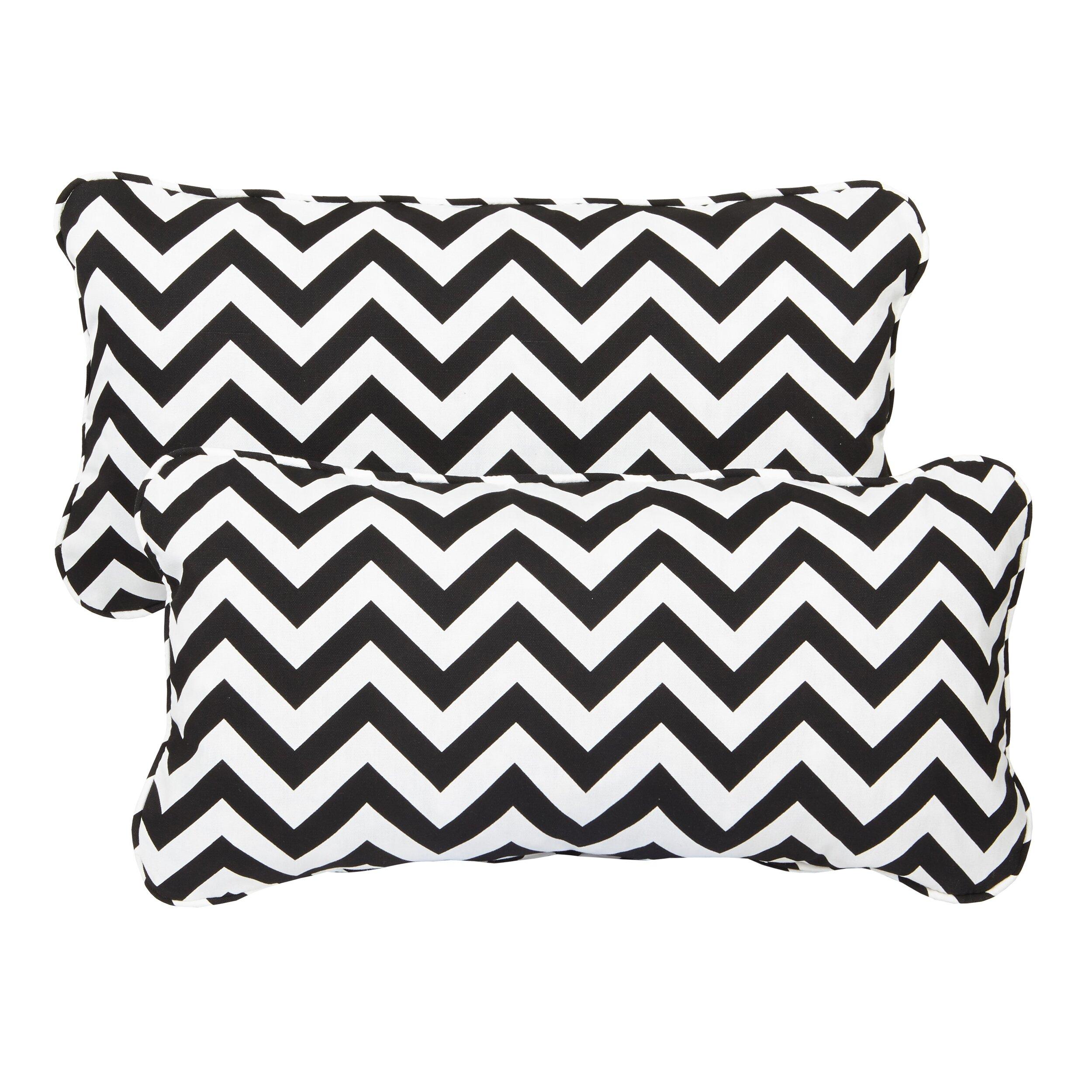 mozaic company stella chevron indoor  outdoor lumbar pillow  u0026 reviews