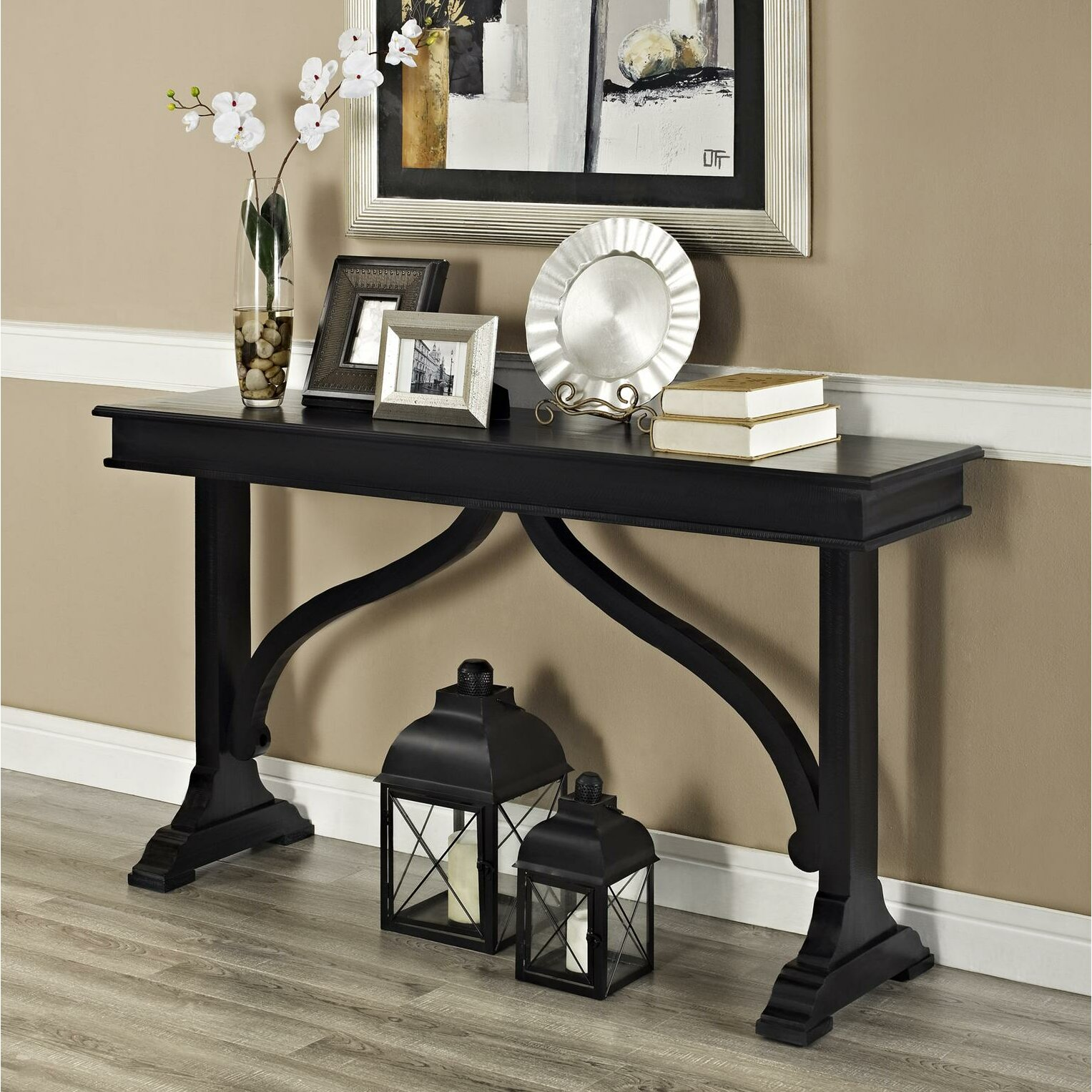 breakwater bay havelock console table reviews wayfair. Black Bedroom Furniture Sets. Home Design Ideas