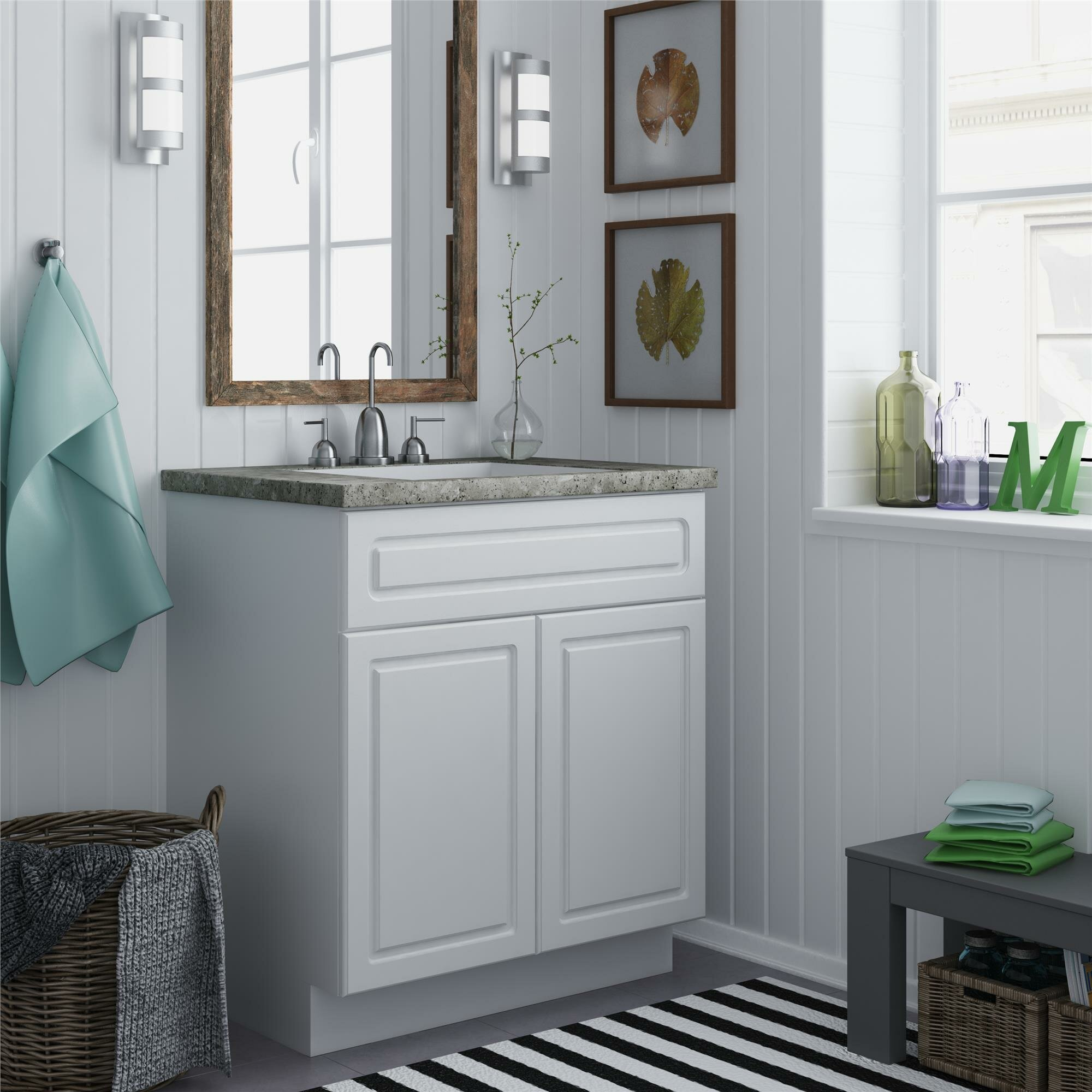 18 Inch Wide Bathroom Vanity Cabinet In Portland Deebonk