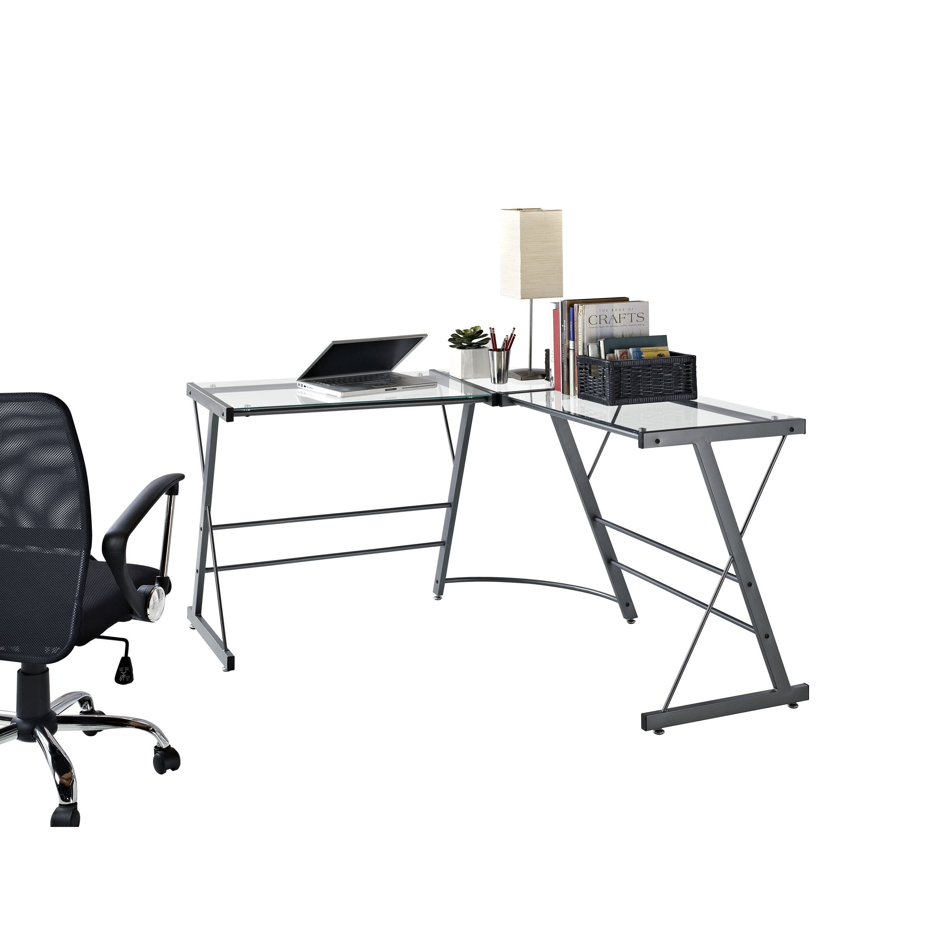 Altra Glass L Shaped Writing Desk & Reviews Wayfair. Full resolution‎  picture, nominally Width 3000 Height 3000 pixels, picture with #814D4A.