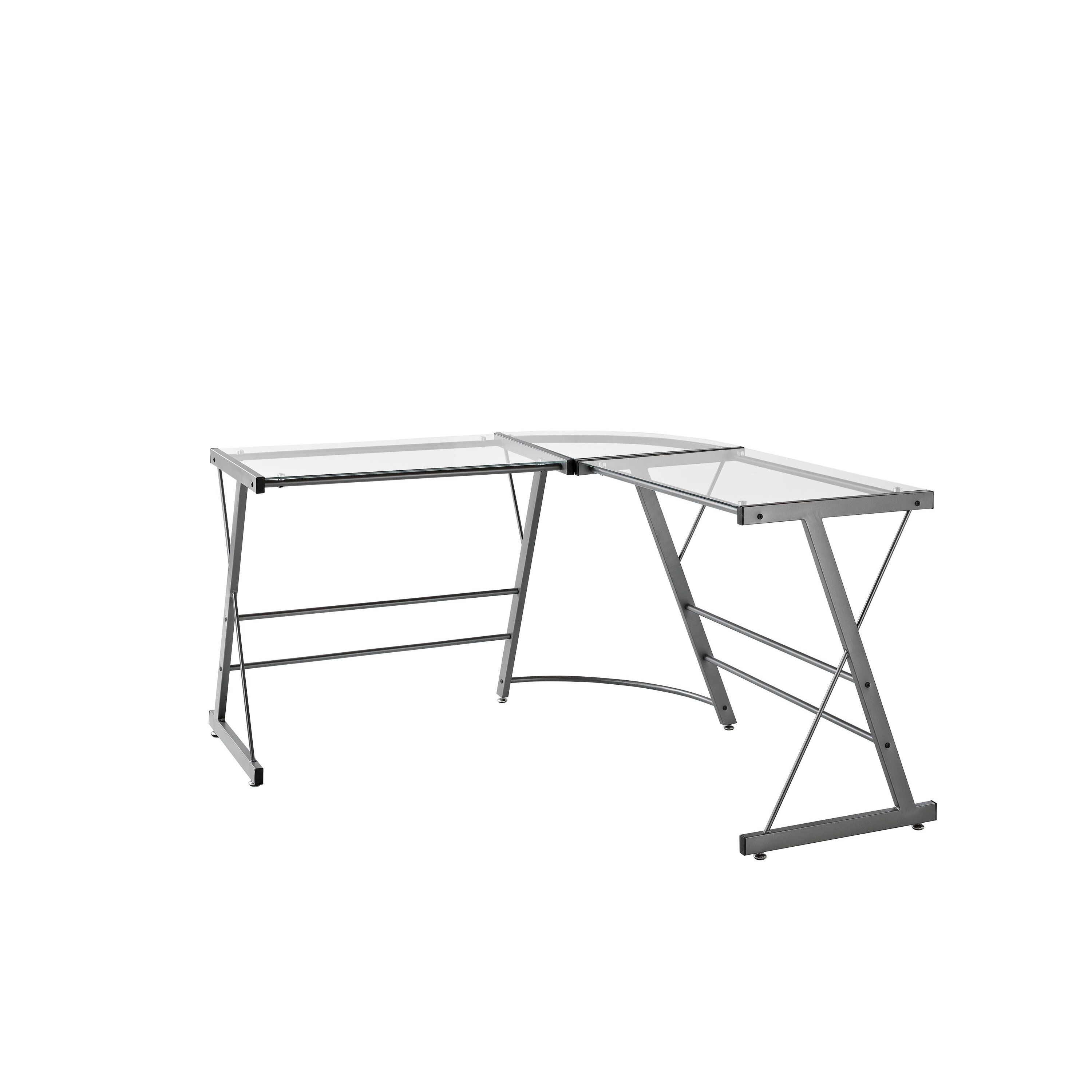 Altra Glass L Shaped Writing Desk & Reviews Wayfair. Full resolution‎  picture, nominally Width 3000 Height 3000 pixels, picture with #525456.