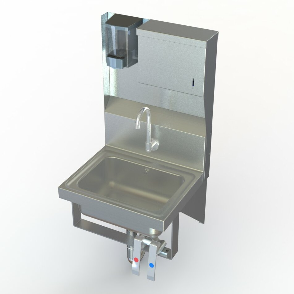 ... Wall Mount Knee Operated Hand Sink with Faucet by Aero Manufacturing