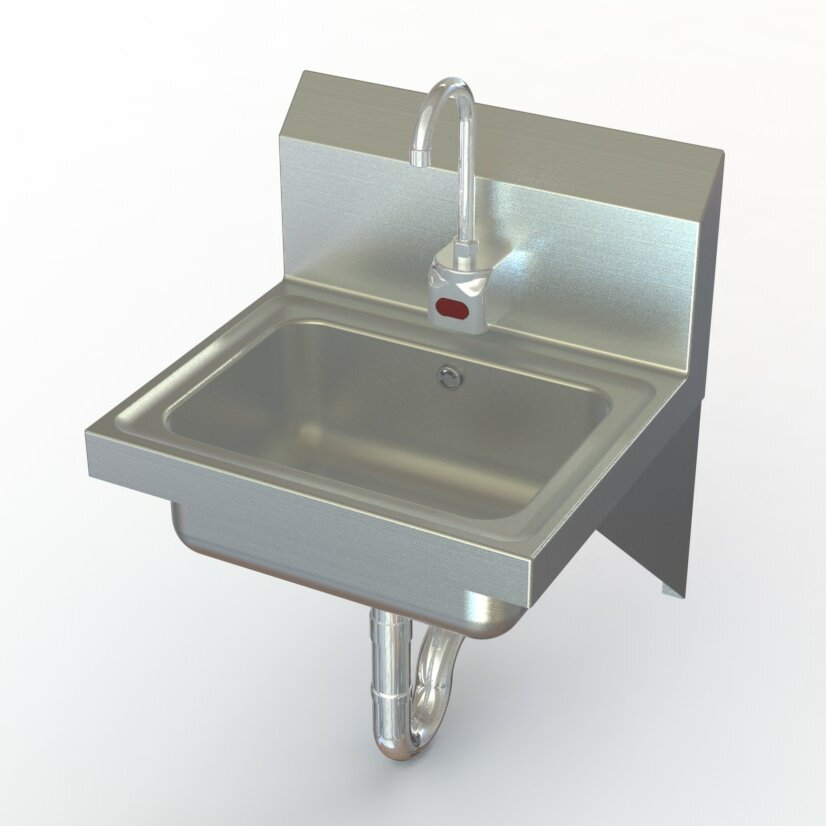 Commercial Sink Faucets Wall Mount : NSF 17