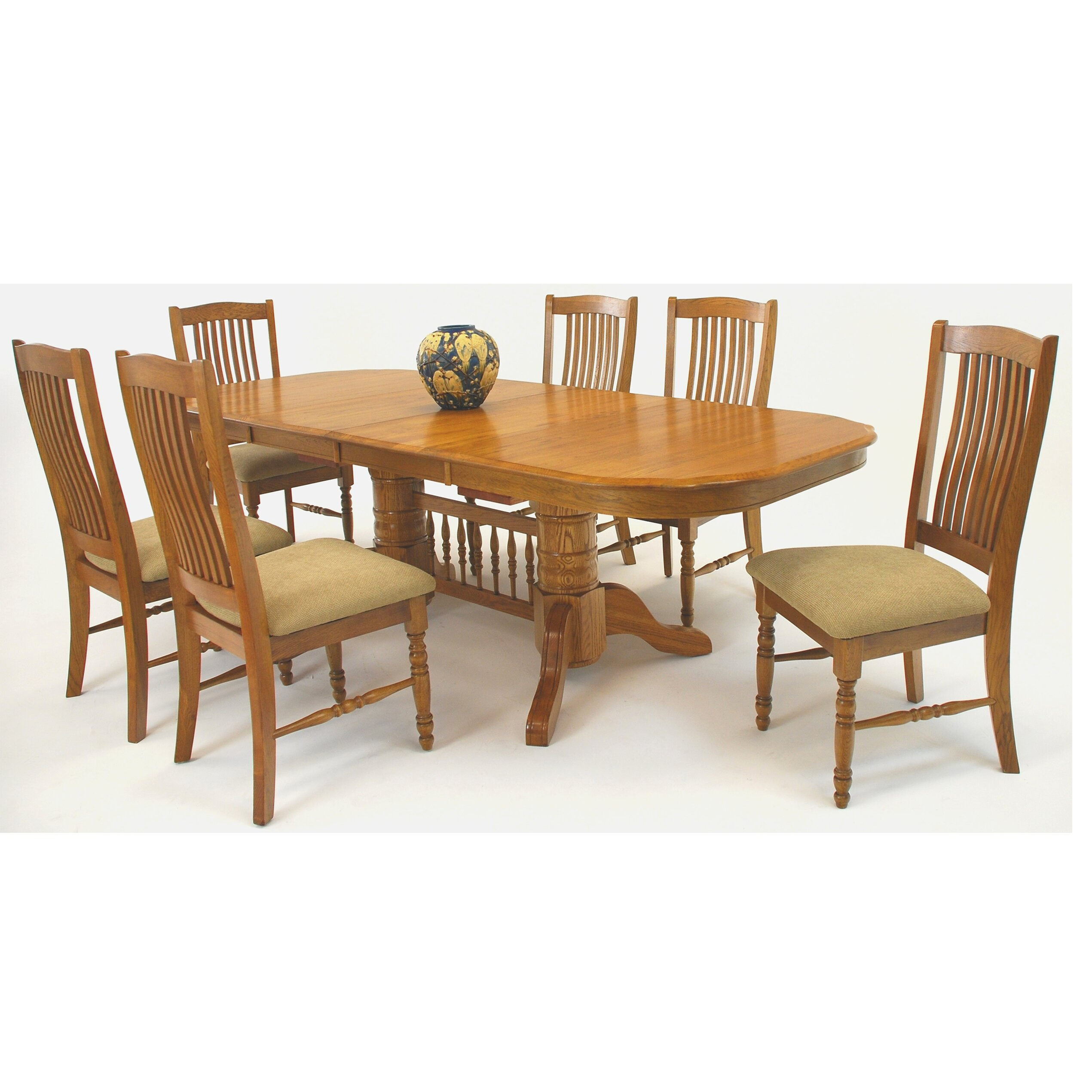 Classic Trestle Extendable Dining Table By Mastercraft Collections