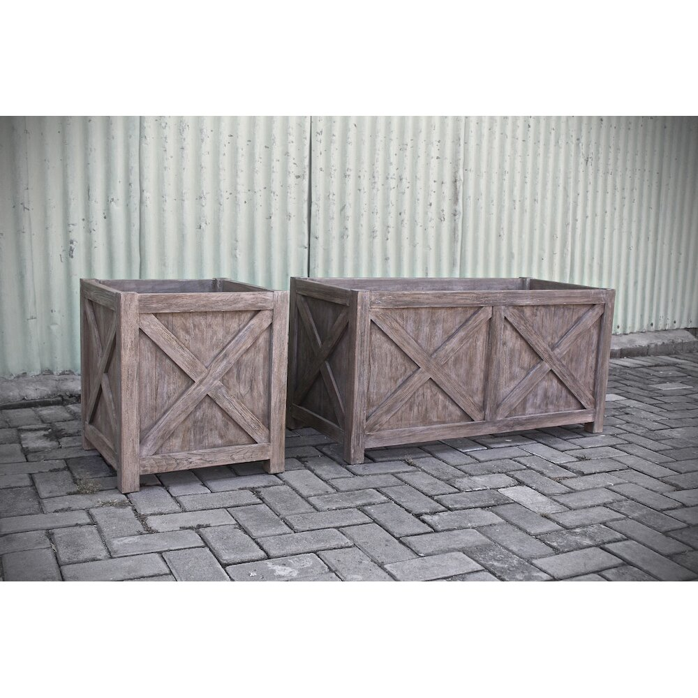 Co9 design lakewood square planter box reviews wayfair for Wayfair garden box