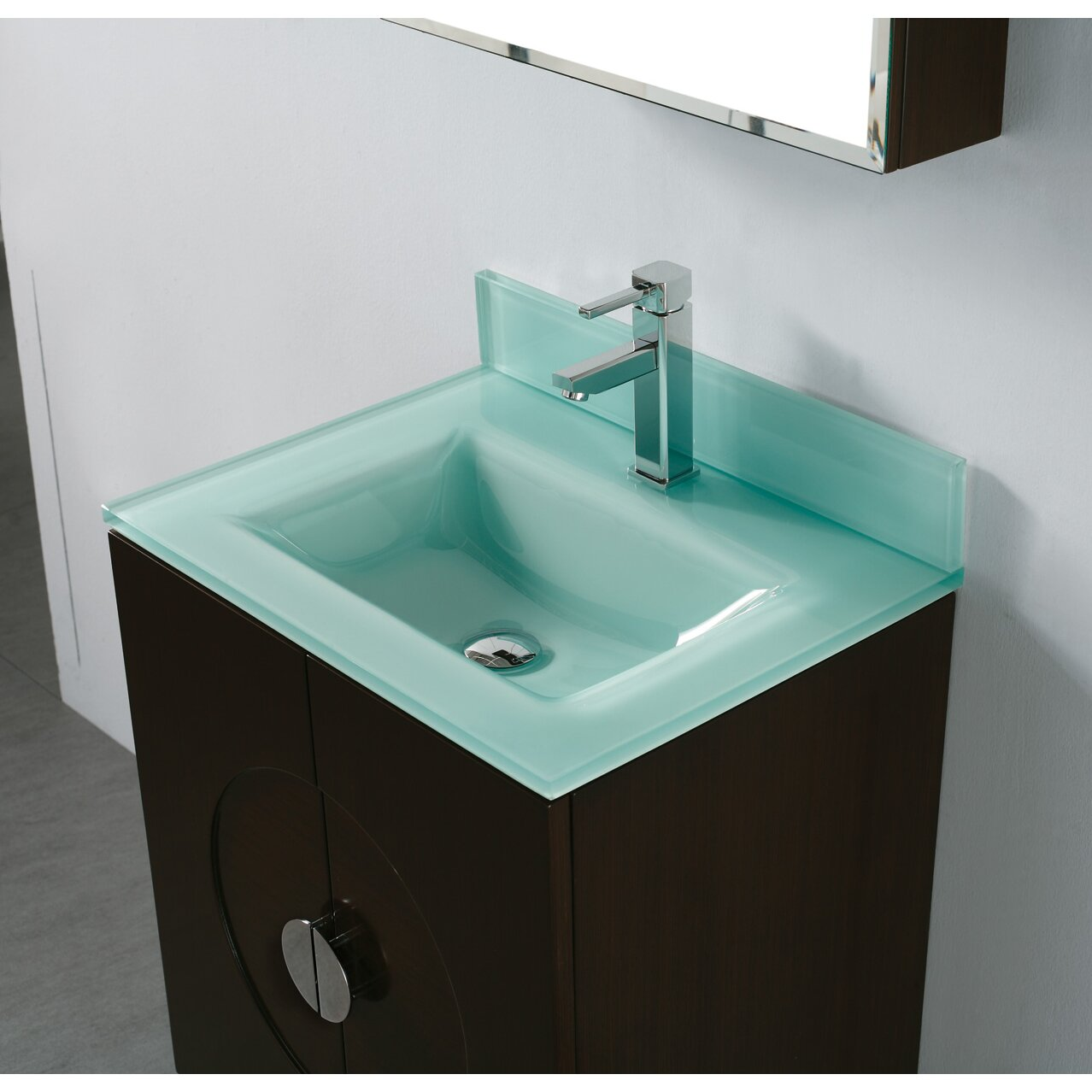 All In One Bathroom Sink And Countertop : Madeli Tempered Glass Countertop Bathroom Sink & Reviews Wayfair