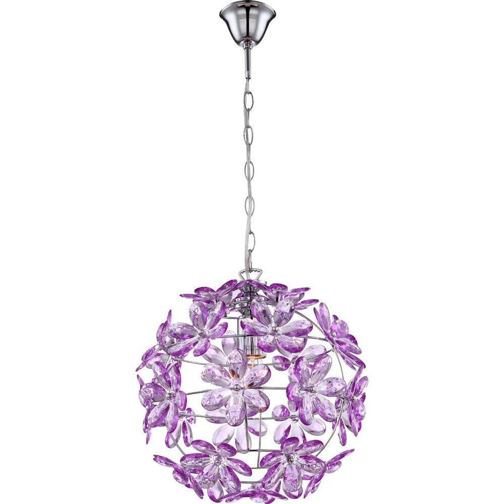 kugel pendelleuchte 1 flammig purple von house additions. Black Bedroom Furniture Sets. Home Design Ideas