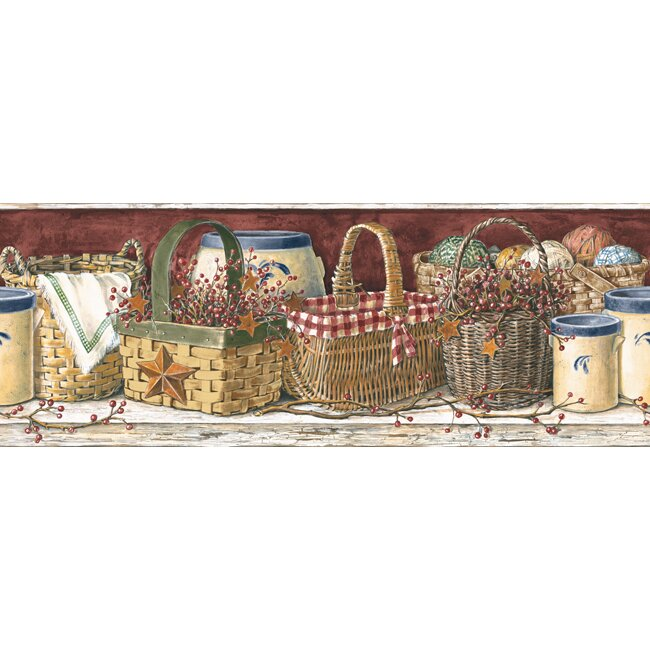 "Mural Portfolio II Country Kitchen 15' X 9"" Food And"