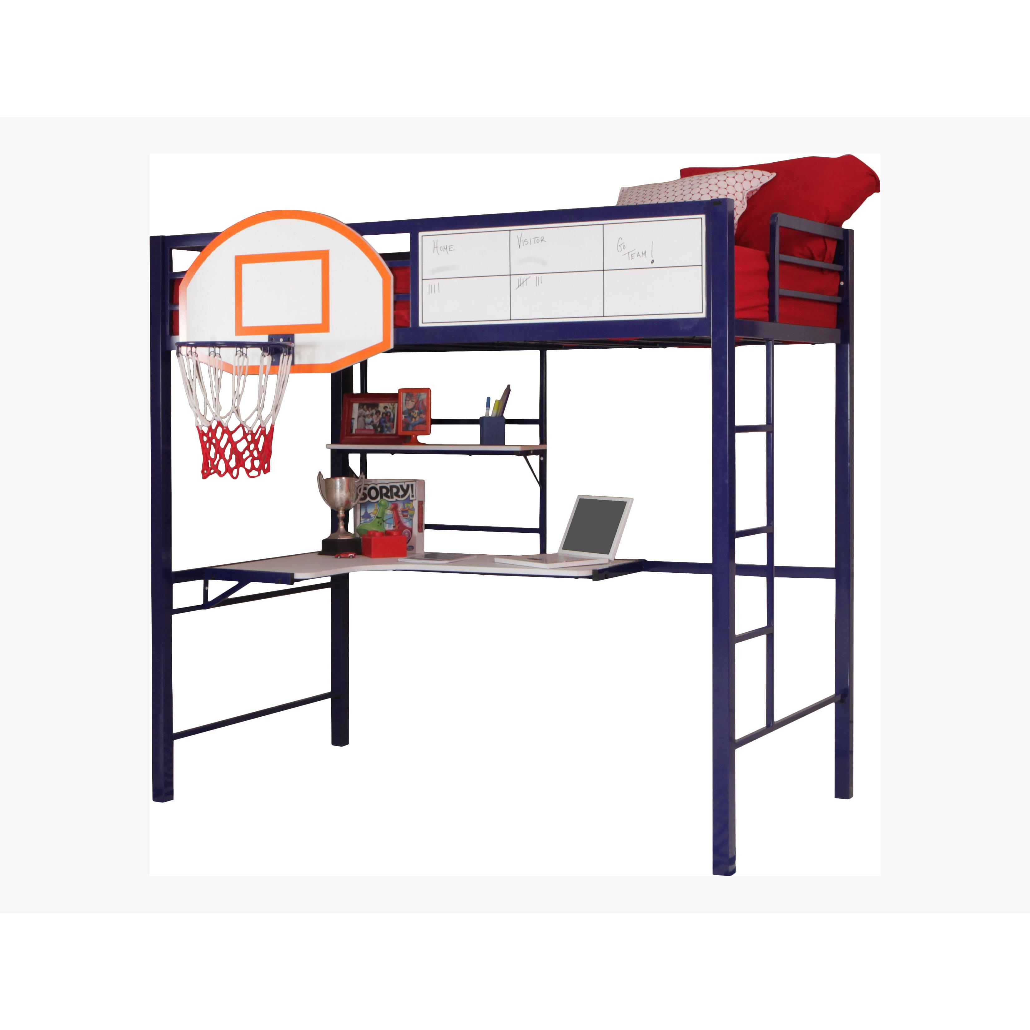 powell hoops basketball twin loft bed reviews wayfair