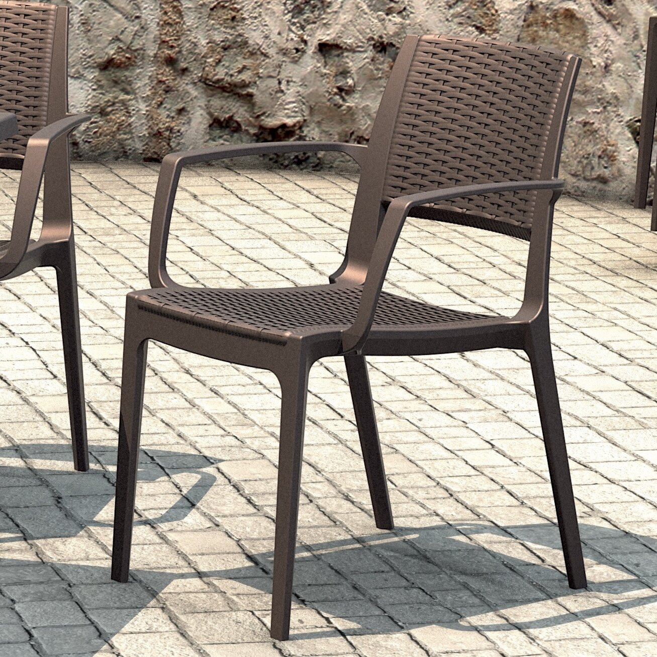 Capri Stacking Dining Arm Chair