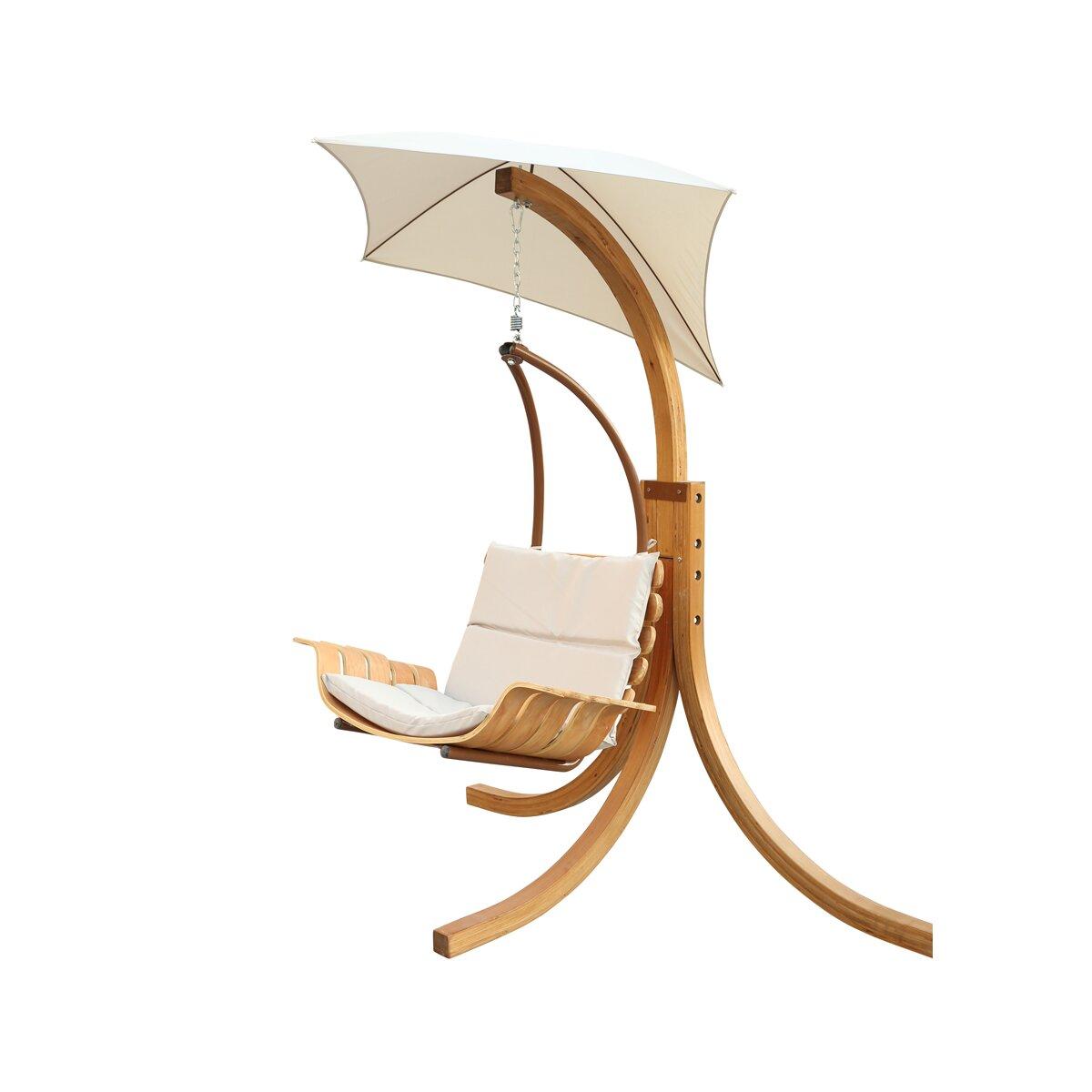 Leisure Season Swing Chair with Cushion & Reviews