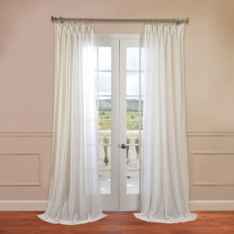 Half Price Drapes Faux Linen Sheer Single Curtain Panel