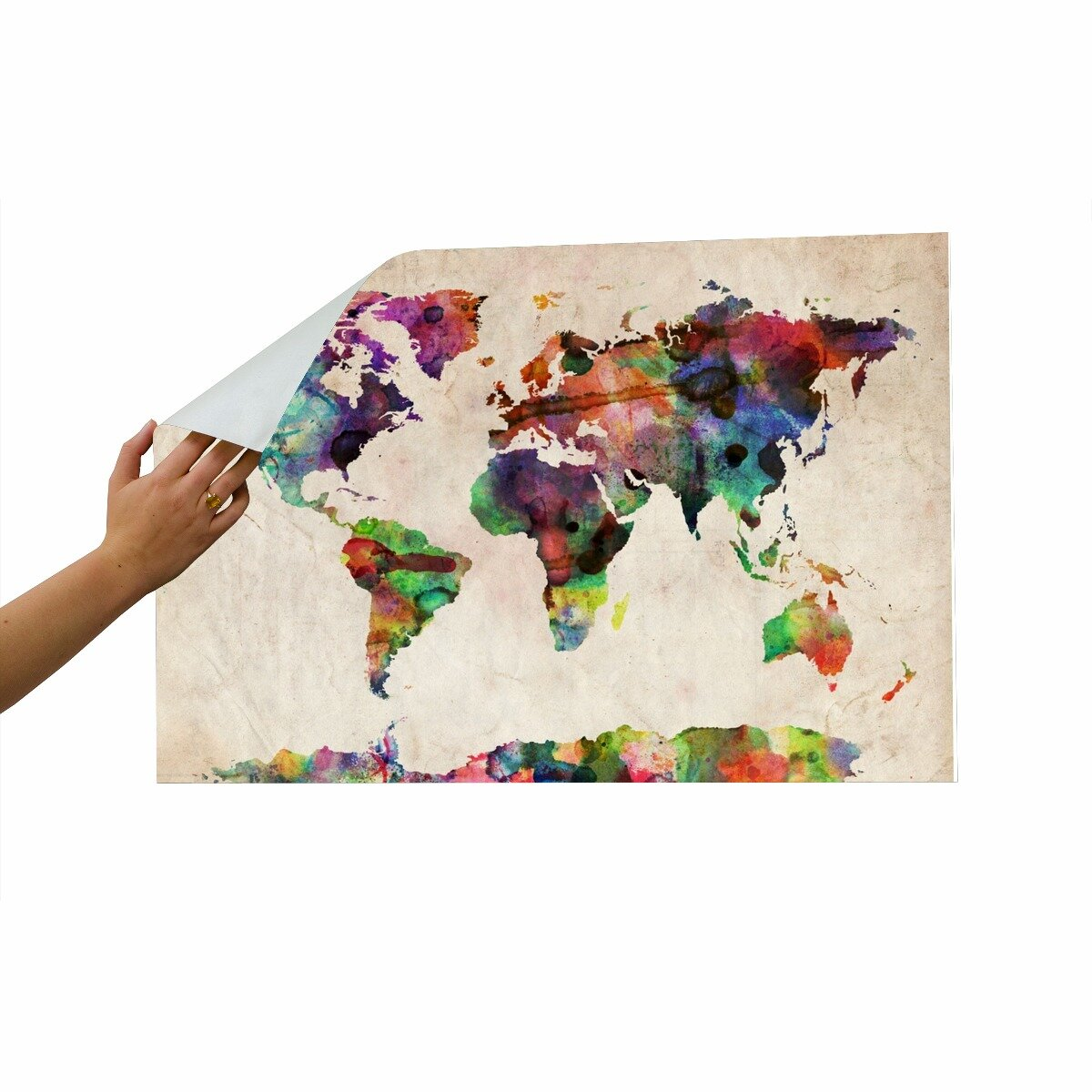 world map wall mural wayfair world political map wall mural miller projection