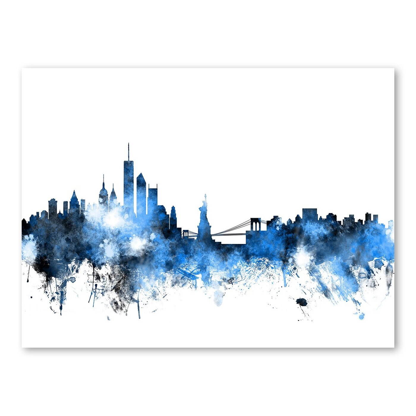 new york skyline wall mural wayfair