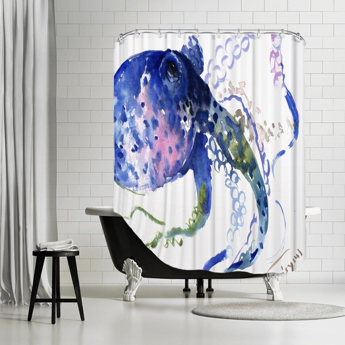 Octopus Shower Curtain Wayfair