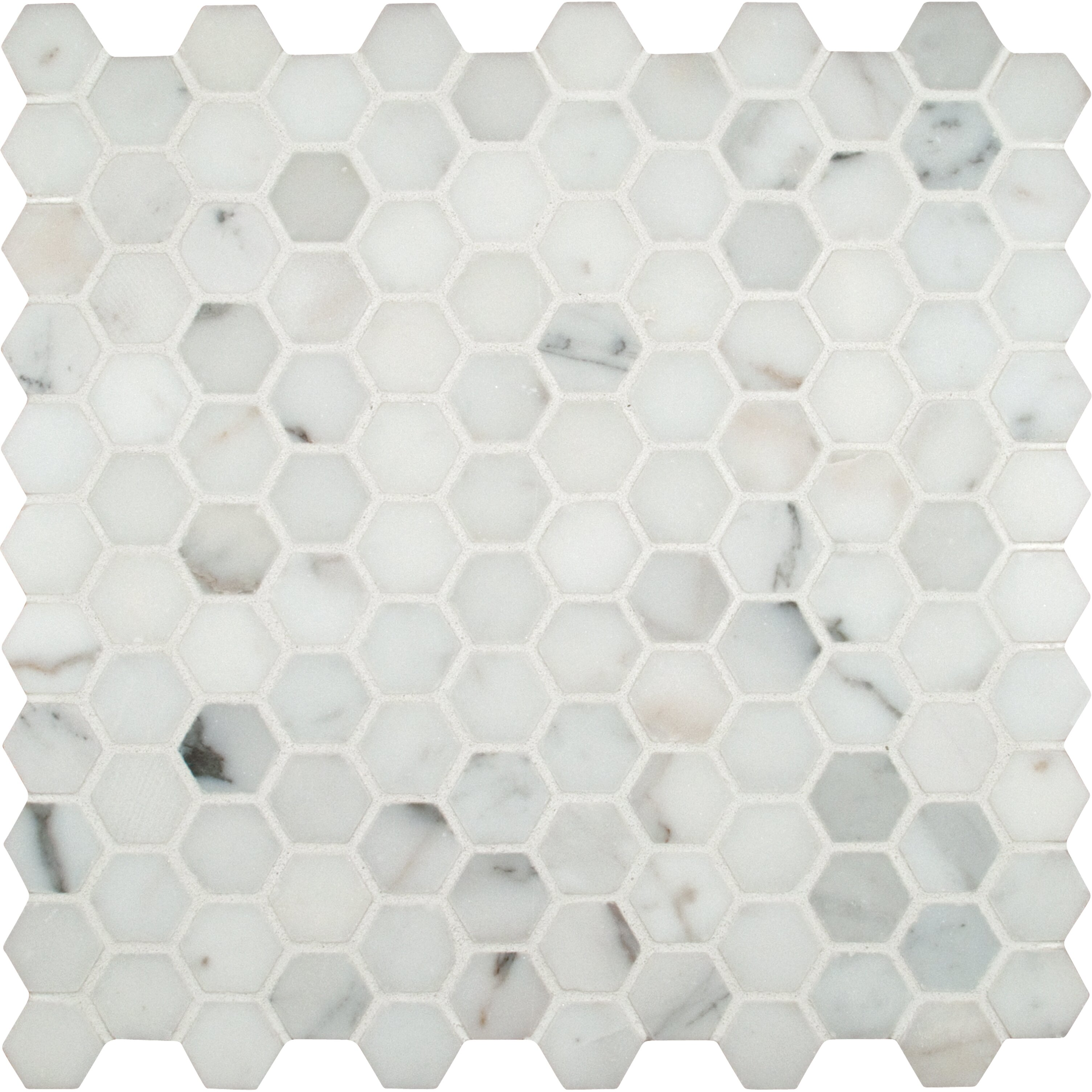 Msi Calacatta Gold Hexagon Mounted 1 Quot X 1 Quot Marble Mosaic