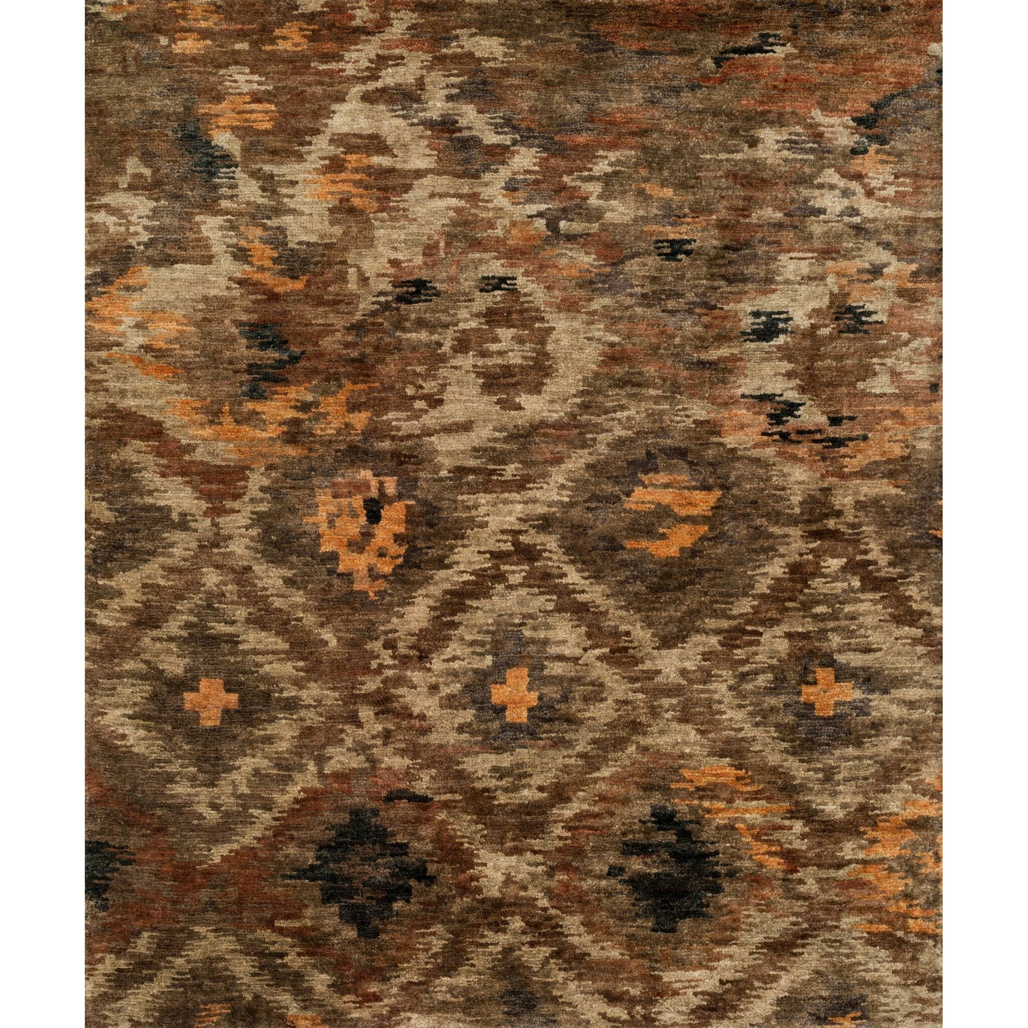 Xavier Hand-Knotted Rustic Brown Area Rug
